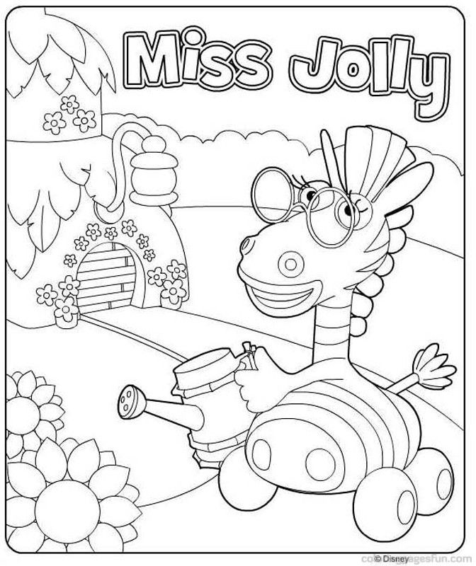 Jungle Junction Coloring Pages 5 | Free Printable Coloring Pages