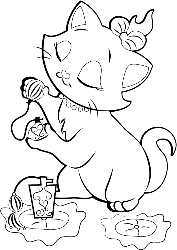 Sweet Disney artisto cat coloring pages | coloring pages