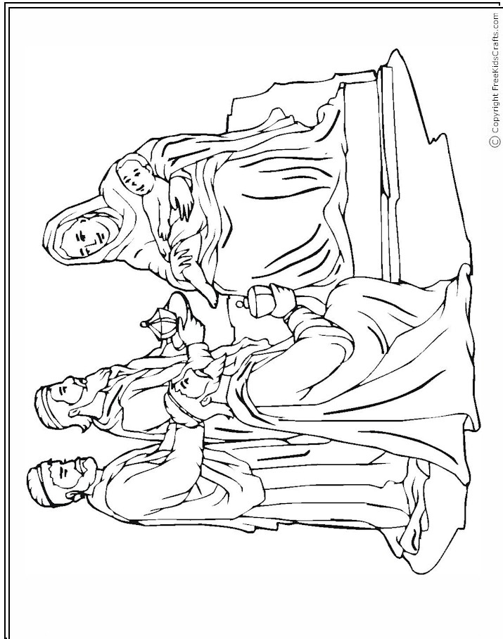 nativity wise men Colouring Pages (page 3)