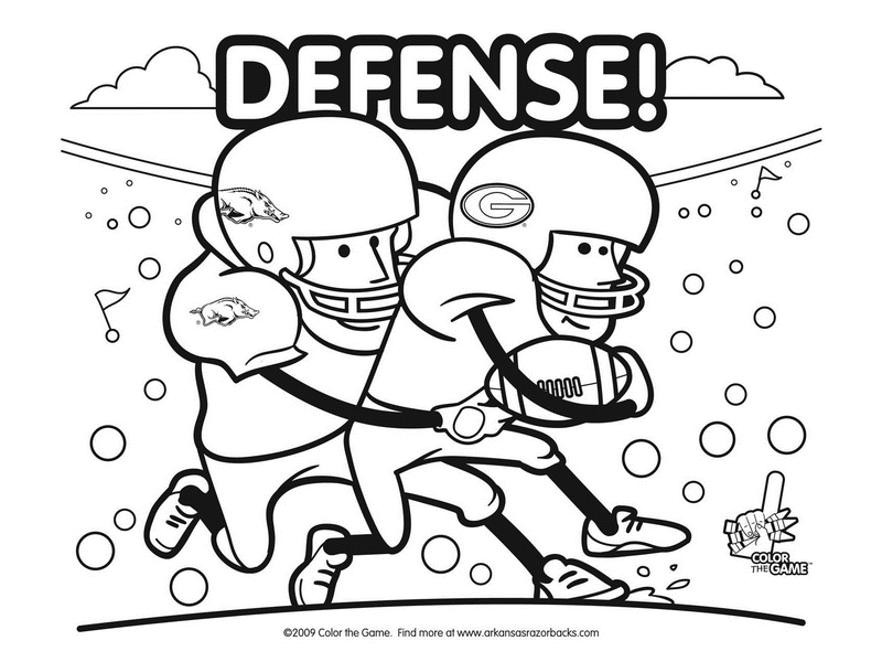 Coloring Pages Football Coloring Pages College Football Coloring