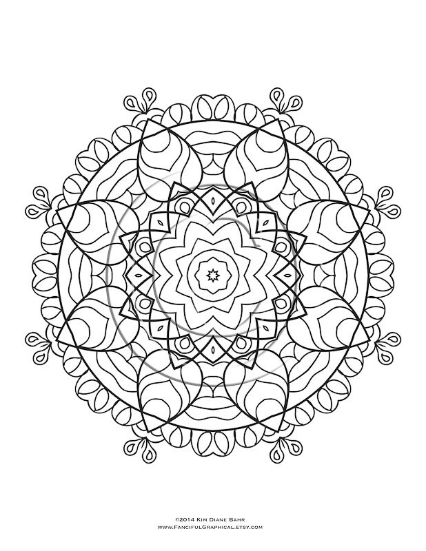 kaleidoscope coloring pages to print free - photo #46