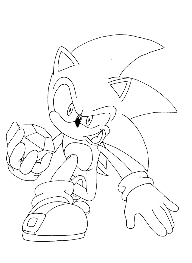 Coloring pages Sonic 1 - Sonic Coloring Pages