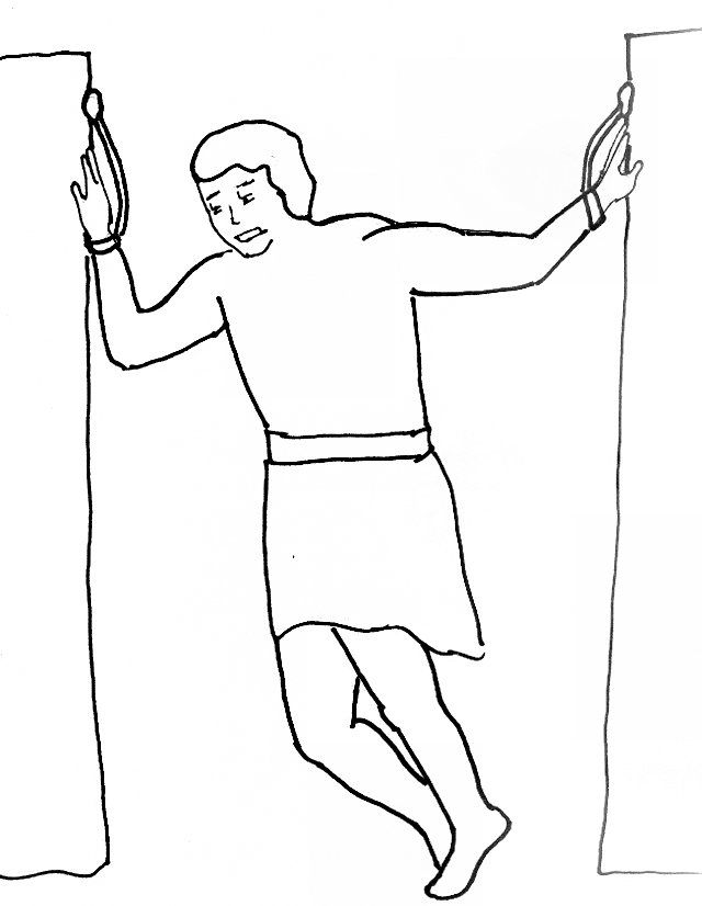 Samson And Delilah Coloring Page Coloring Home