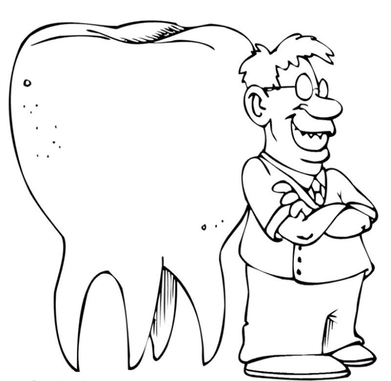 Doctor Day : Printable Dental Coloring Sheets, Personalized Dental