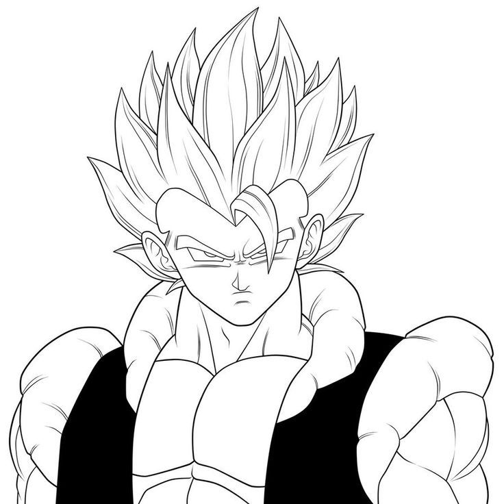 Gogeta Coloring Pages