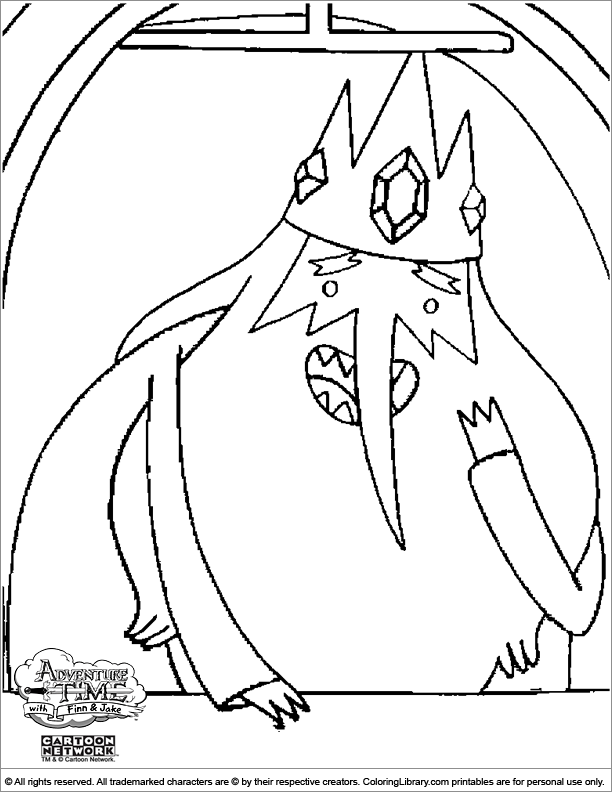 Adventure Time coloring picture