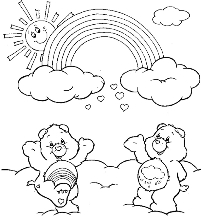 Printable Rainbow Coloring Pages AZ Coloring Pages