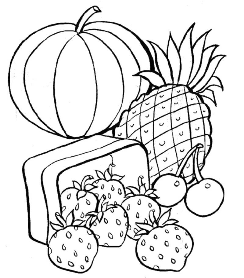 healthy food coloring pages the girl eat healthy food coloring - Healthy Food Coloring Pages