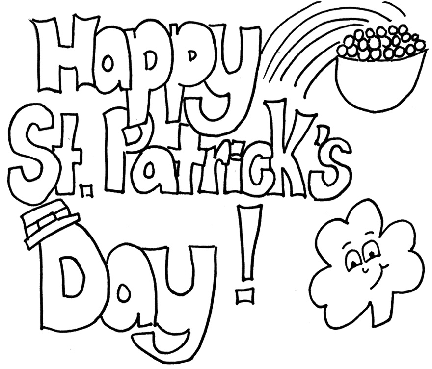 saint patricks day coloring pages - photo#34