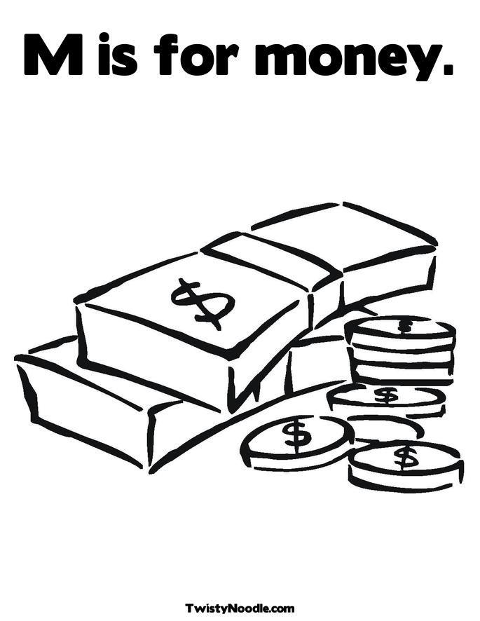 Money coloring pages for kids az coloring pages for Coloring pages money