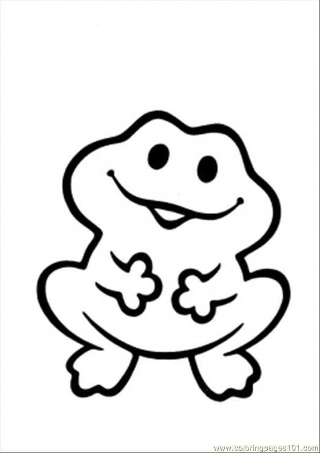 Printable Coloring Page Funny Frog Amphibians  Coloring Home