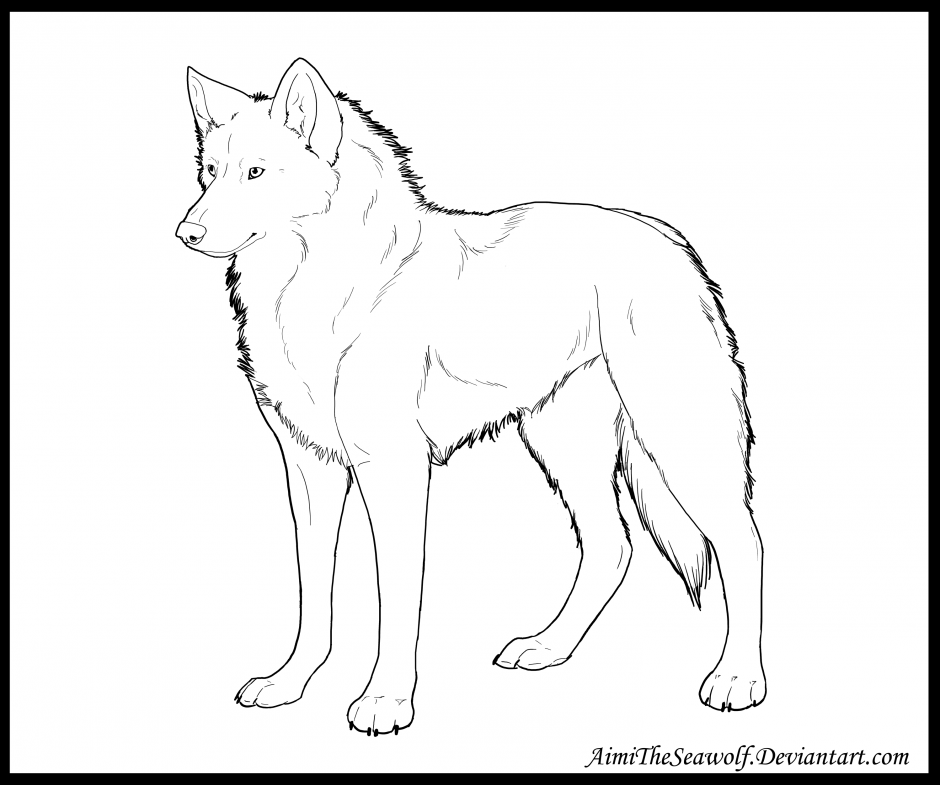 Free Anime Wolf Color Coloring Pages Wolves Coloring Pages
