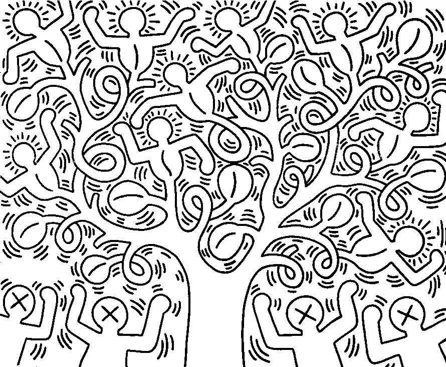 keith haring coloring pages - keith haring coloring pages az coloring pages