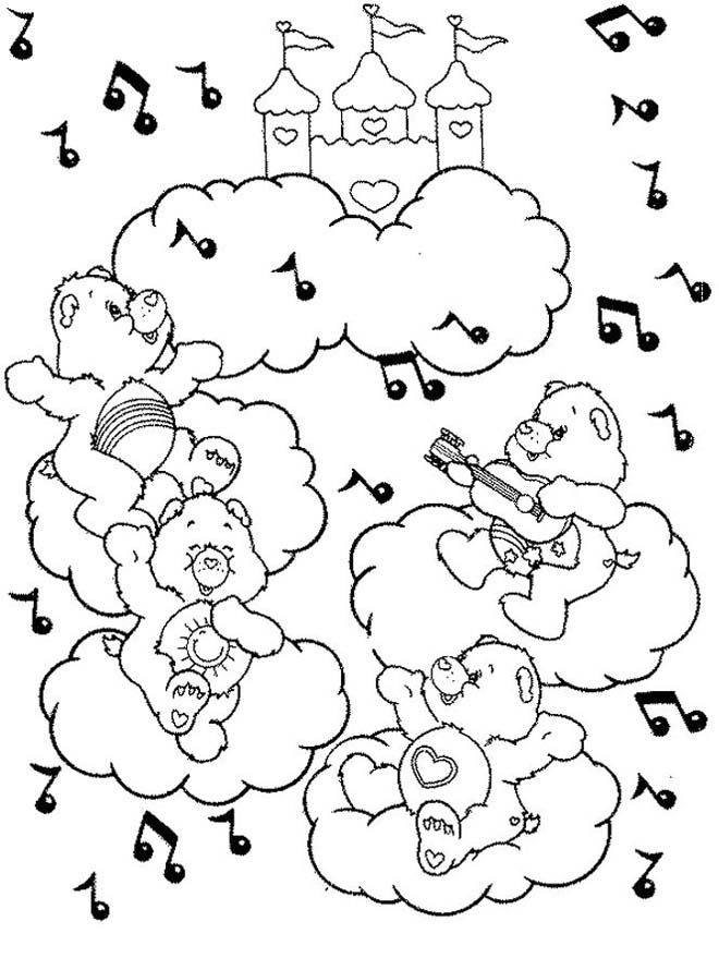 Care bear sheets az coloring pages for Care bears printable coloring pages