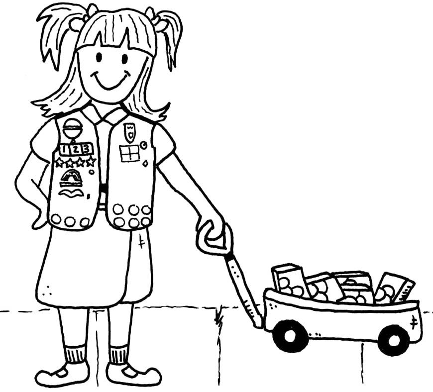 Brownie girl scout coloring pages coloring home for Considerate and caring coloring page