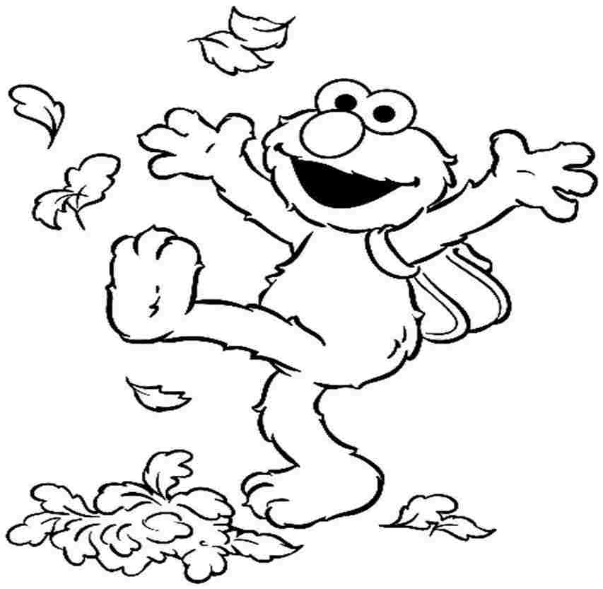 Free coloring pages of 8 elmo