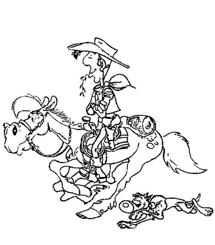 Lucky Luke - AZ Coloring Pages