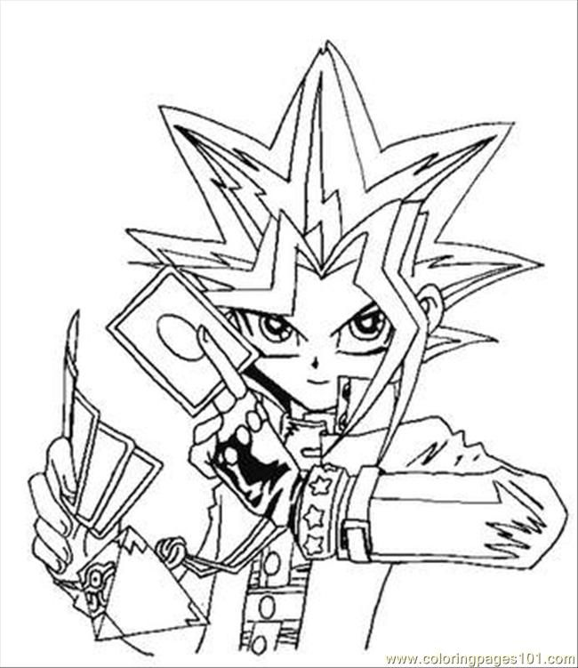 Yu Gi Oh Coloring Pages To Print