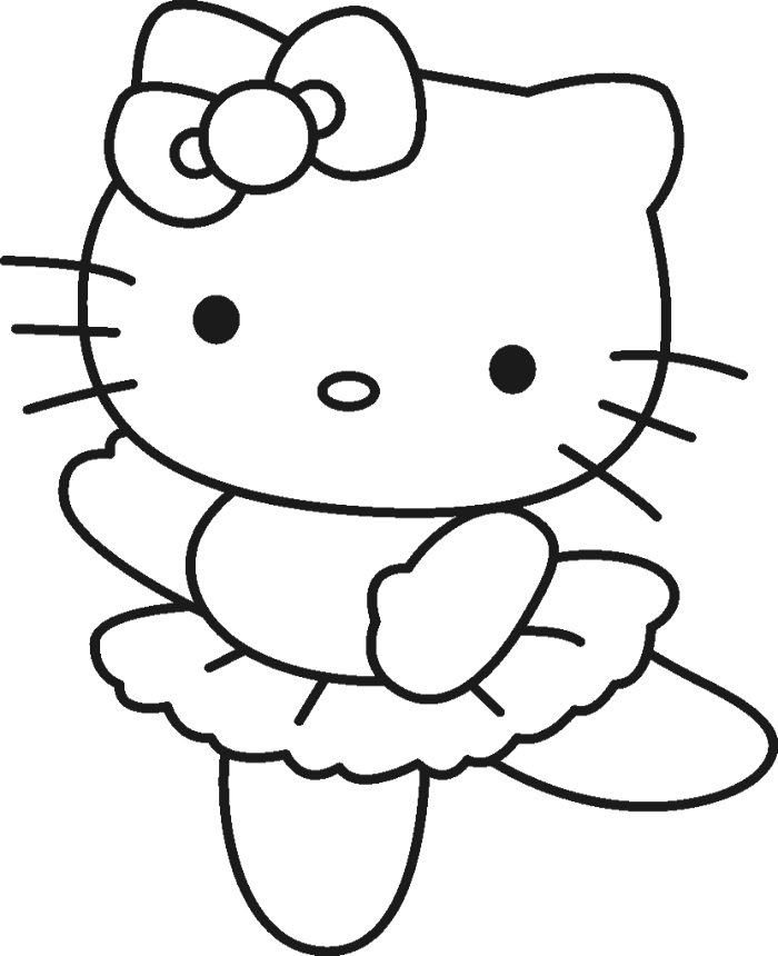 Easy to draw hello kitty coloring home for Hello kitty princess coloring page