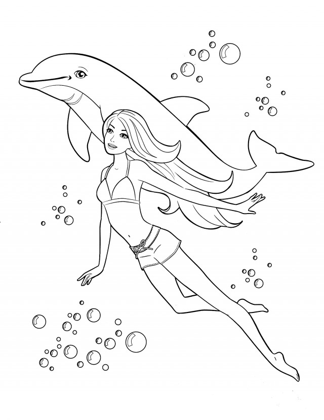 coloring pages swimming - photo#17