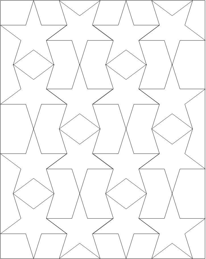Star Outline Printable AZ Coloring