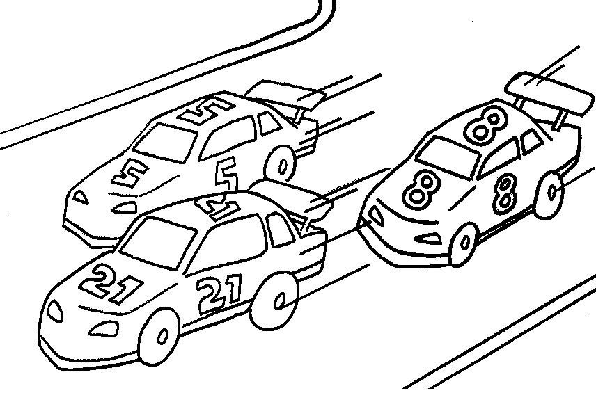 Coloring book cars az coloring pages for Race car color page