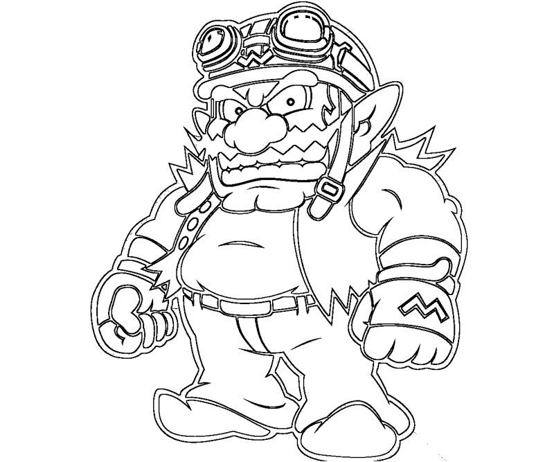 wario coloring pages - photo#8