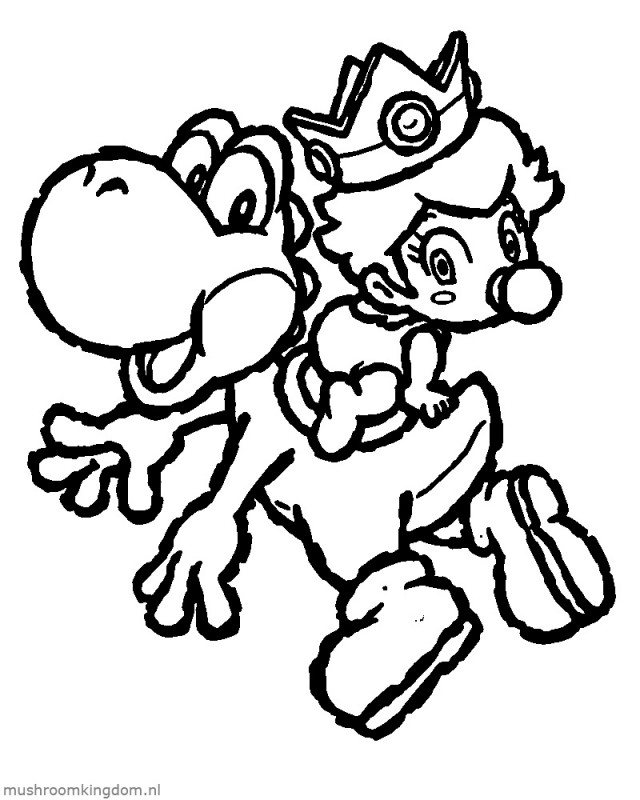 paper mario coloring pages - photo#25