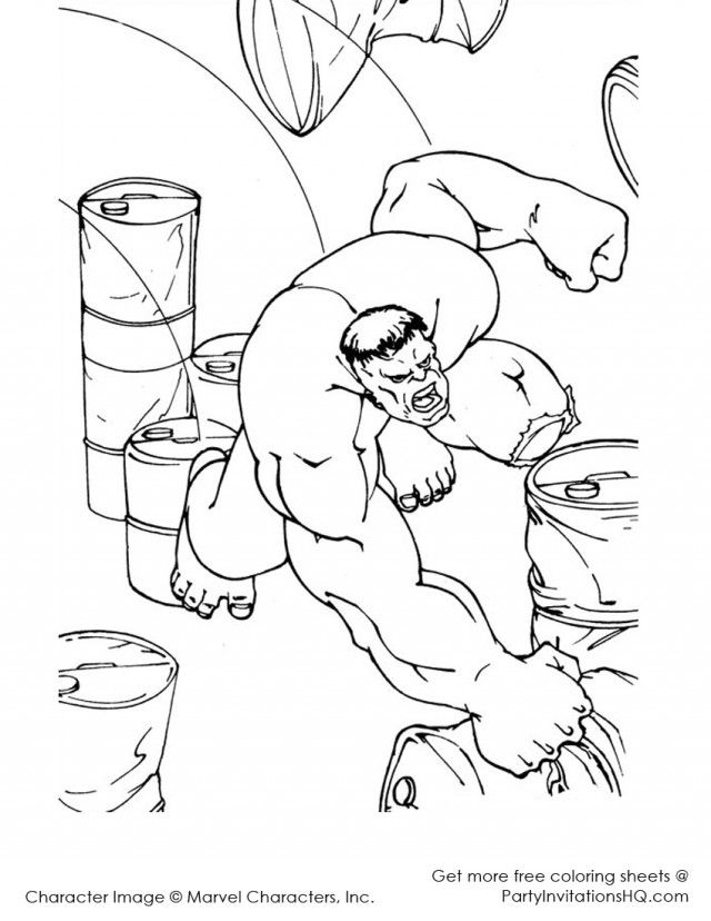 Incredible Hulk Coloring Page Sheet Printable Coloring Sheet