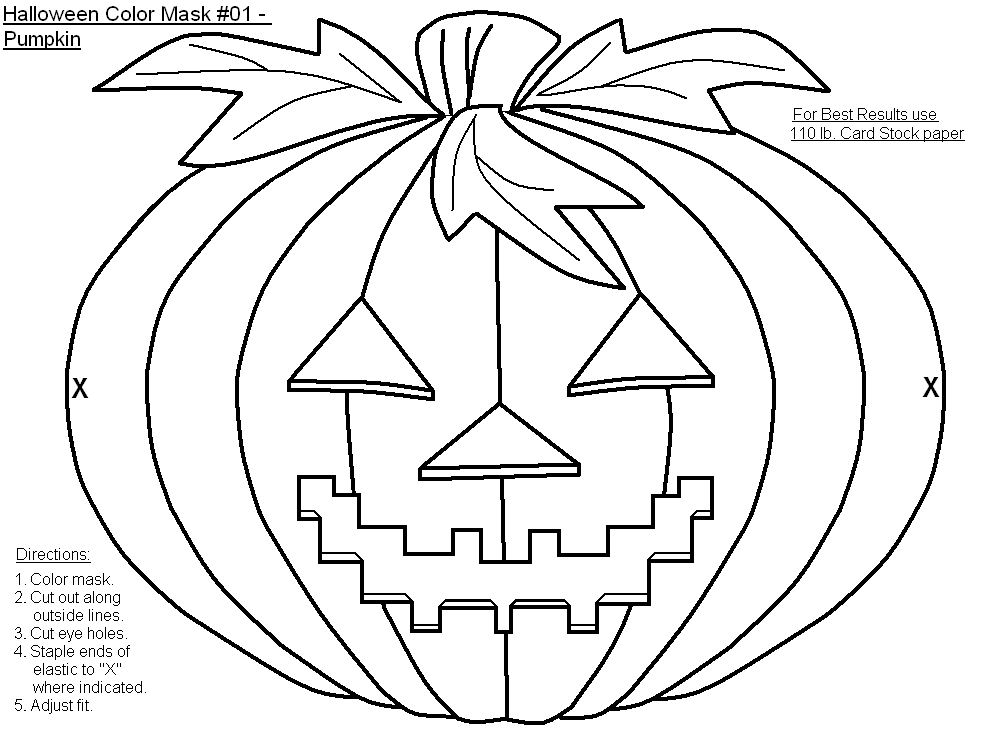 Free Printable Halloween Masks To Color Holiday Party Favors At Coloring Home