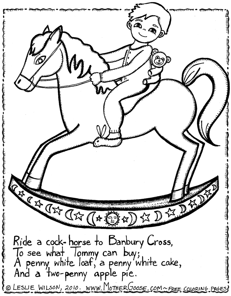 mothergoose coloring pages - photo#36