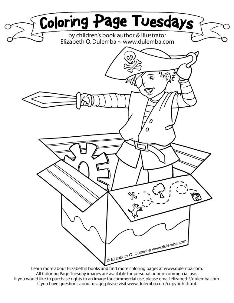 dulemba: Coloring Page Tuesday - Pirate time!