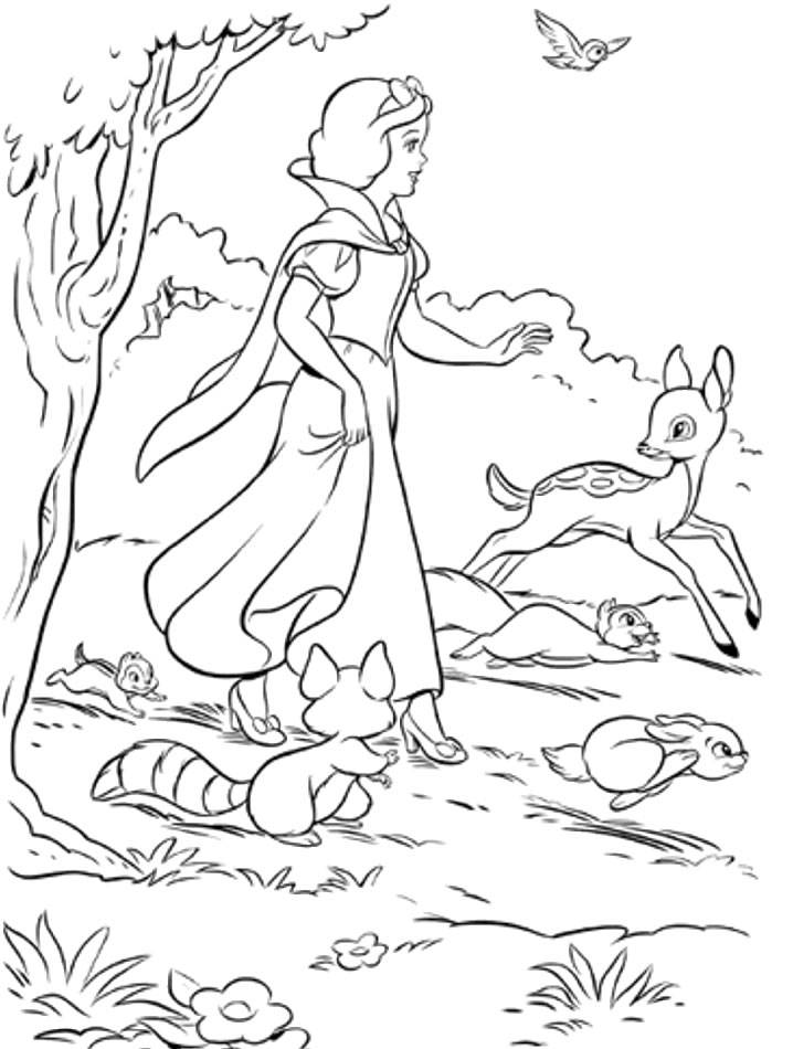 Coloring pages snow white and the seven dwarfs - picture 3