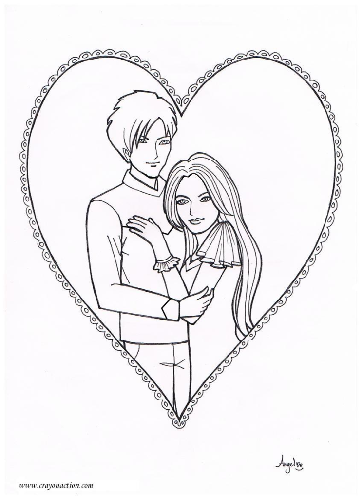 prince and princess coloring pages - photo#14