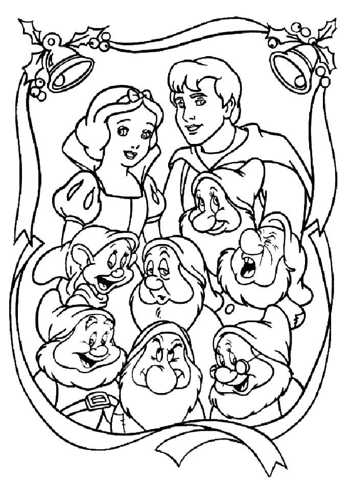Coloring pages of snow white and the seven dwarfs for Snow white and the seven dwarfs coloring page