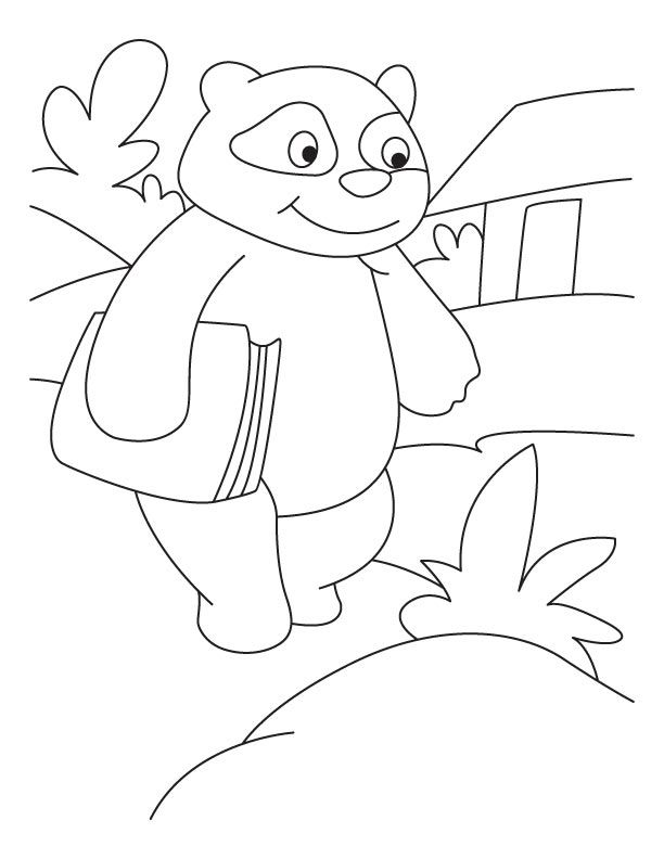 printable giant panda coloring pages - photo#20