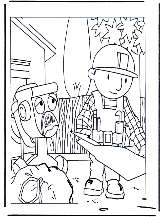 Bob The Builder Coloring Pages | Free Internet Pictures