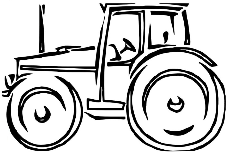 Pin Tractor Coloring Pages For Preschoolers > Old Vintage