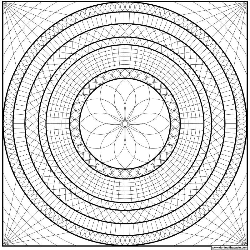 Geometric Mandala Coloring Pages - AZ Coloring Pages