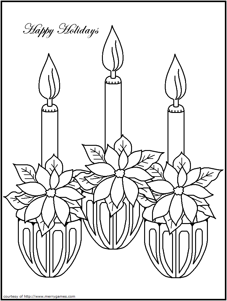 Pictures Of Christmas Candles - Coloring Home
