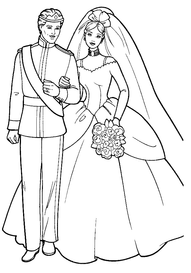 freewedding coloring pages - photo#36