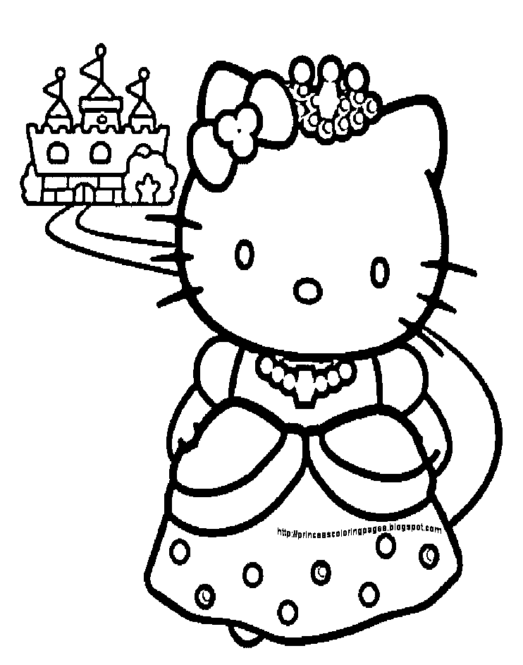 Hello Kitty House Coloring Pages : Hello kitty coloring pages kids home