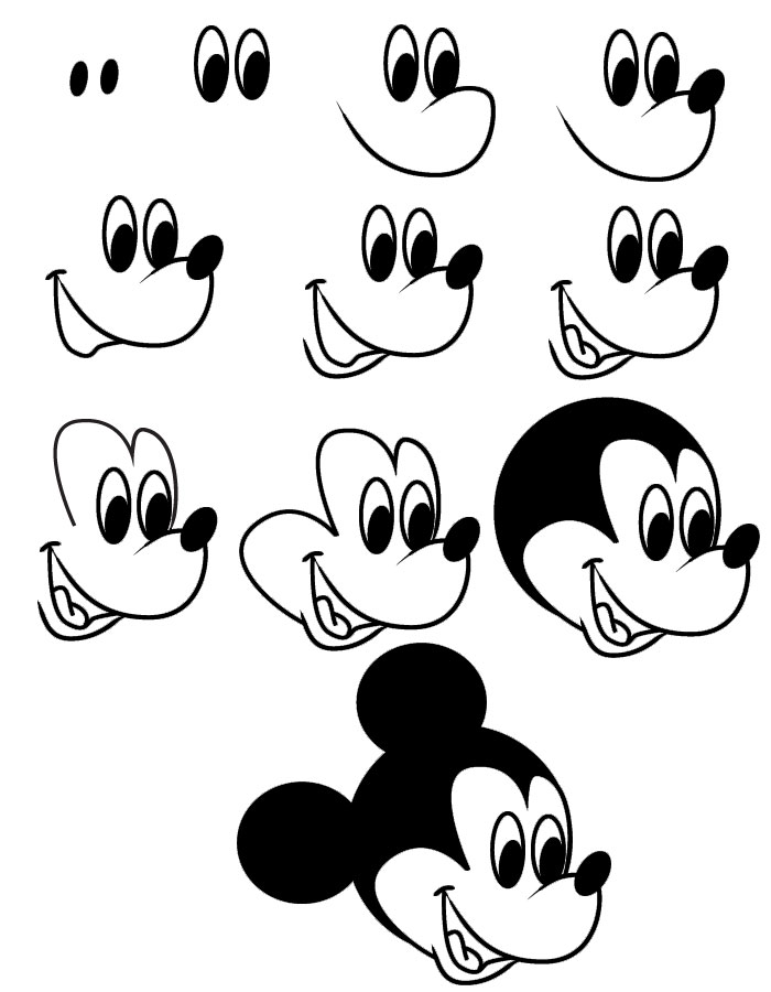 Disney Cartoon Characters To Draw Step By Step