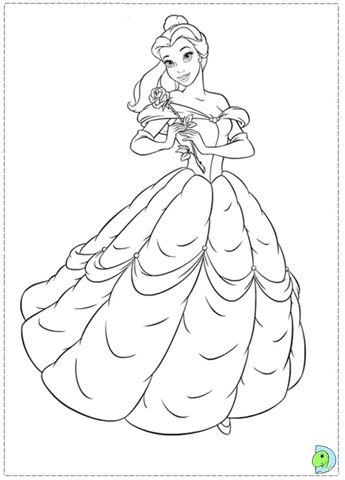 Free Colouring Pages Beauty And The Beast : Beauty and the beast coloring pages to print az