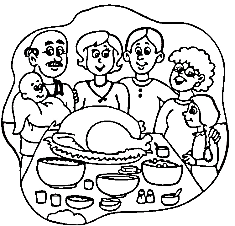 turkey dinner coloring pages - photo#8