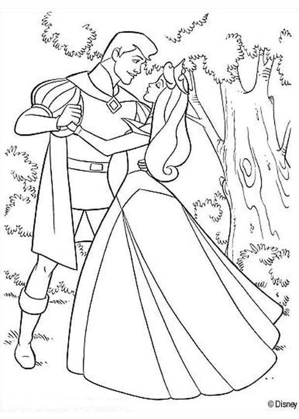 Walt Disney Coloring Pages - Princess Aurora - Walt Disney-Figuren ... | 850x607