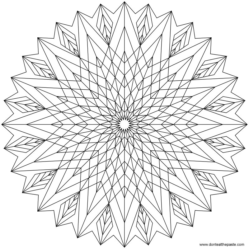 Kuna Mola Chicha Coloring Page Enchantedlearning : Intricate