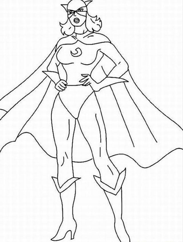 Beautiful Coloring Pages Girl Superheroes Pictures Printable