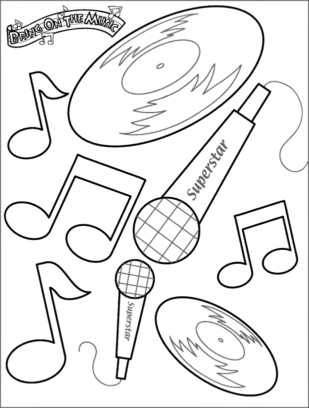 Music | coloring pages