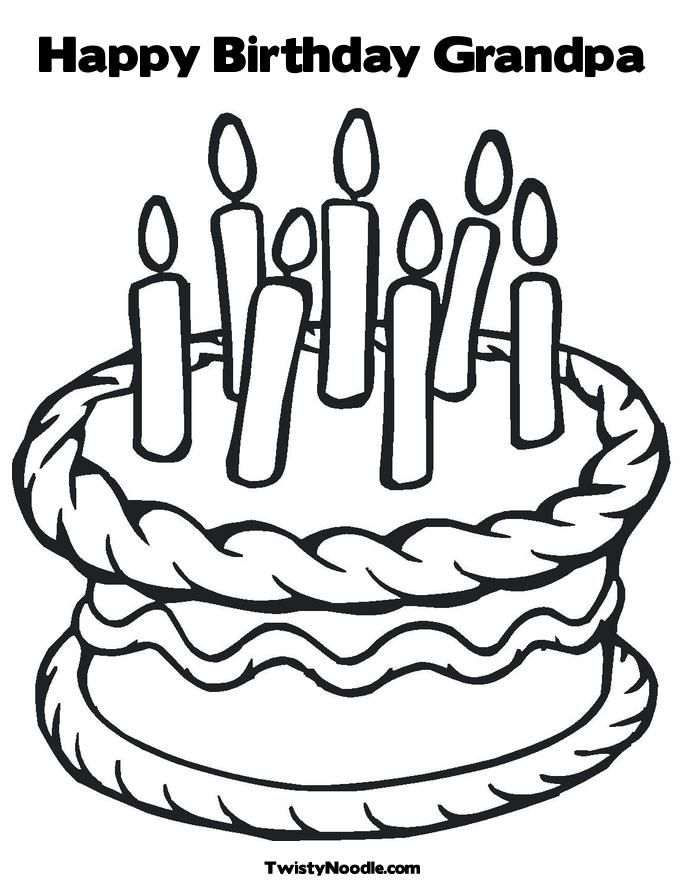 Happy Birthday Coloring Pages For Grandpa - Coloring Home
